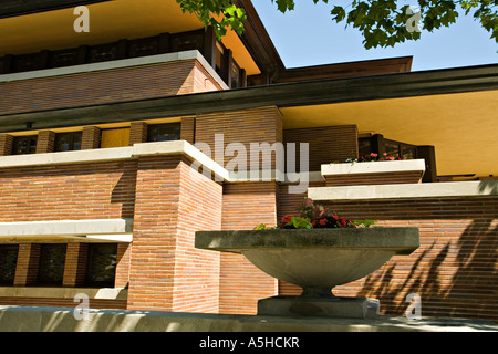 ILLINOIS-Chicago Robie House auf Woodlawn Avenue in Hyde Park Prairie Stil Residenz Architekt Frank Lloyd Wright - Stockfoto