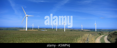 Carlands Cross Wind Farm in Cornwall, England - Stockfoto