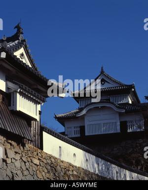 Bitchu Matsuyama Schloss Takahashi Stadt. Japans höchster Schloss. - Stockfoto