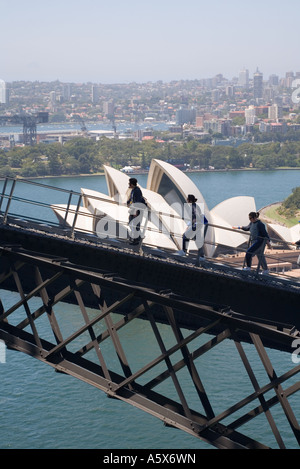 Klettern die Sydney Harbour Bridge - Sydney, New South Wales Australien - Stockfoto