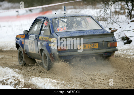 Winteraction Rallye Escort - Stockfoto