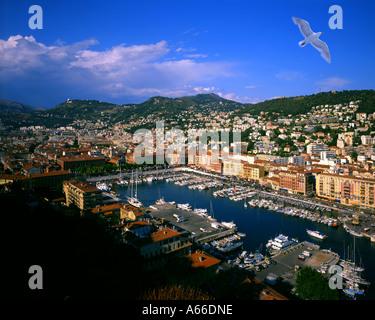 FR - COTE d ' Azur: Schöne Stadt und Hafen - Stockfoto