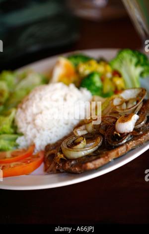 typische trinken...all Rica Essen serviert in Limonaden Costa Rica - Stockfoto