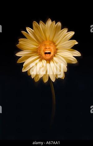 Schreiende Blume-Konzept - Stockfoto