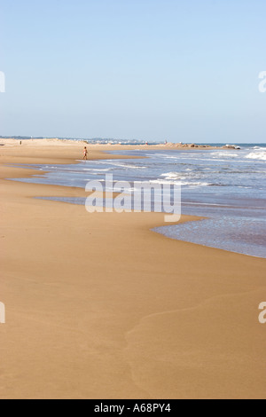 Eine fast leere Playa Brava - Punta Del Este - Stockfoto