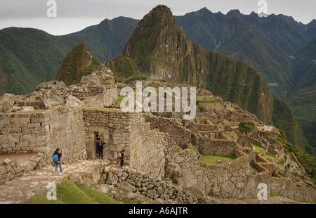 Die Inka-Funde-Website von Machu Picchu in Peru Südamerika - Stockfoto
