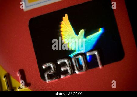 Hologramm auf Visa-Kreditkarte - Stockfoto