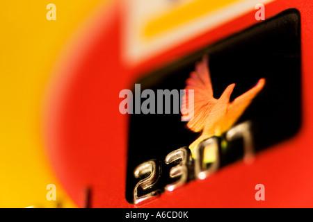 Hologramm auf Kreditkarte - Stockfoto