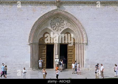 Basilika der Heiligen Franziskus in Assisi Italien - Stockfoto