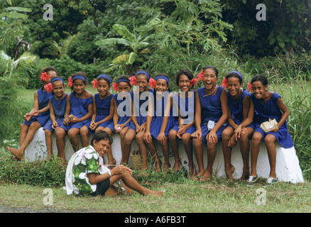 Schulkinder-Cook-Inseln - Stockfoto