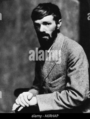 Lawrence, David Herbert, 11.9.1885 - 2.3.1930, englische Autor / Schriftsteller, halbe Länge, 1920 - Stockfoto