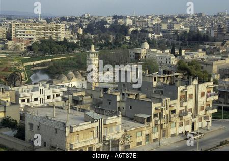Hama, Syrien - die Al-Nuri-Moschee, von der Zitadelle aus gesehen - Stockfoto