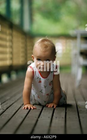 Kind krabbeln Sydney Australia - Stockfoto