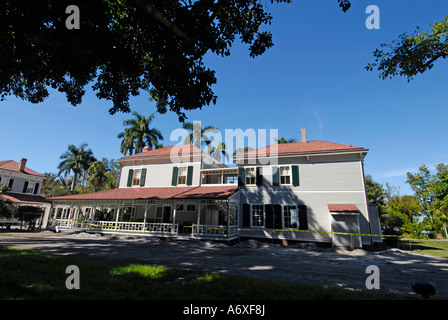 Südwesten Ft Meyers Fort Myers Florida Florida Edison und Ford Winter Estates Seminole Lodge - Stockfoto