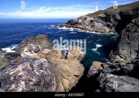 Tintagel King Arthur Merlin Cornwall Coast Strand Meer - Stockfoto
