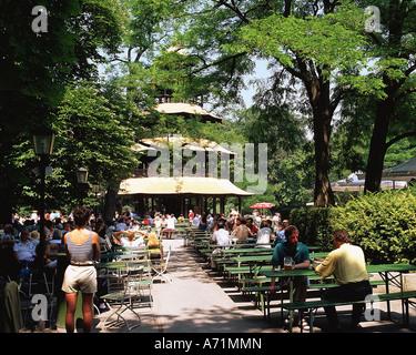 Geographie / Reisen, Deutschland, Bayern, München, Englischer Garten, englischer Garten, chinesischer Turm im Sommer, - Stockfoto