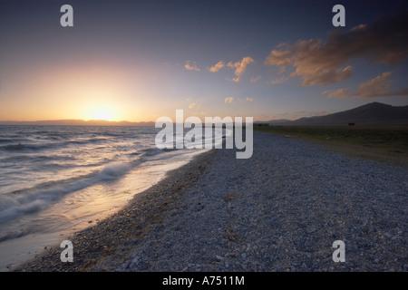 Sonnenuntergang am See Lied Kol - Stockfoto