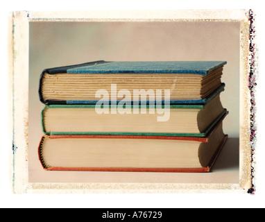 Stapel von drei Büchern Stockfoto