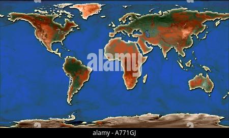 Welt Karte Illustration - Stockfoto