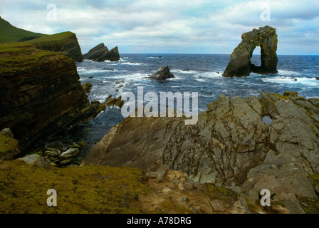 Foula Shetlands Schottland Stacks North End und naturale - Stockfoto