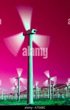 Windmühle für Stromerzeugung - Stockfoto