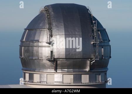 Observatorio del Roque de Los Muchachos, La Palma, Kanarische Inseln, Islas Canarias, Spanien, España, Europa, Europa - Stockfoto