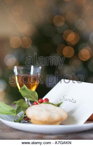 Ein Brief für Santa links - Stockfoto