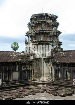 Angkor Wat Tempel der Roten Khmer in Kambodscha Siem Reap Provinz die größte religiöse Denkmal - Stockfoto