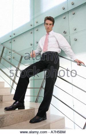 Ein Geschäft stehen auf Treppe - Stockfoto
