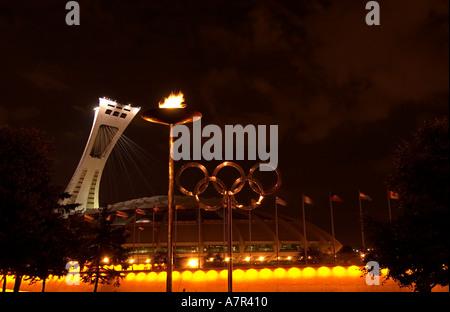 Olympiastadion, Olympia Park, Montreal, Quebec, Kanada - Stockfoto