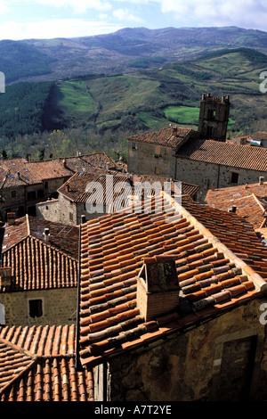 Italien, Toskana, rund um den Monte Amiata, Santa Fiora - Stockfoto