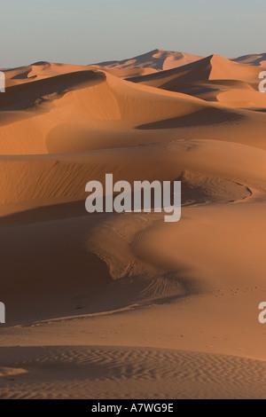 Erb Chebbi Sanddünen in der Nähe von Merzouga, Marokko - Stockfoto