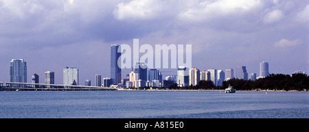 Panorama der Skyline von Downtown Miami - Stockfoto