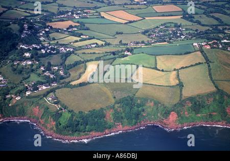 Devon Luftbild, über den South Hams. Devon.  XPL 6141-480 - Stockfoto