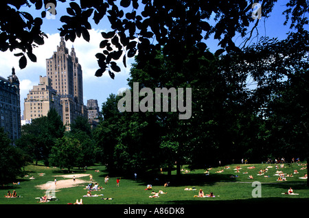 Central Park New York City USA Manhattan - Stockfoto