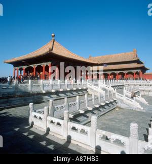 Bao He Dian Hall, Hofburg, Verbotene Stadt, Peking, China. Aufgenommen im Jahr 1987.