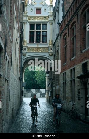 Radfahrer in Brügge Belgien - Stockfoto