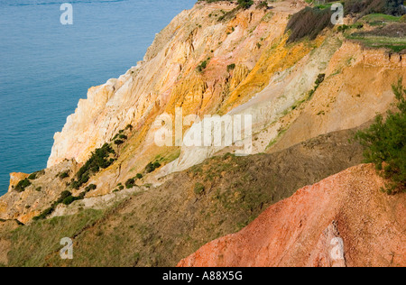 Farbige Klippen von Alum Bay, Isle Of Wight - Stockfoto