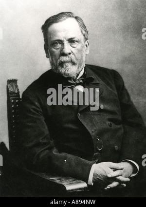 LOUIS PASTEUR, französischer Chemiker und Gründer der Studie von Bakterien 1822 bis 1895 - Stockfoto