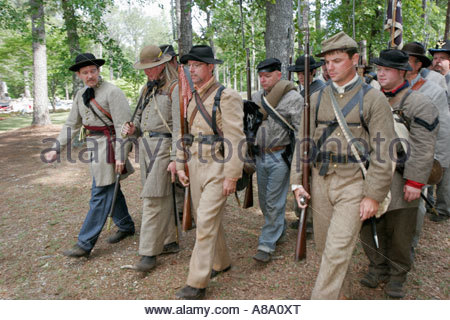 Alabama Marbury Confederate Memorial Park Civil War Reenactor Soldat - Stockfoto