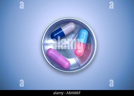 Tabletten Tabletten Kapseln - Stockfoto