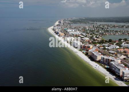 Luftaufnahme von Broken Island, Conch Schlüssel, Indian Rocks Beach, Saint Petersburg, Florida - Stockfoto