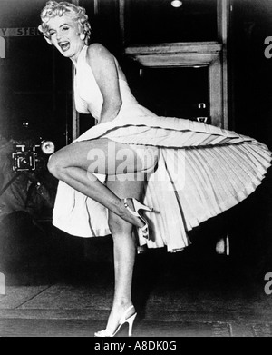 THE SEVEN YEAR ITCH - Marilyn Monroe am Set des Films 1955 TCF - Stockfoto