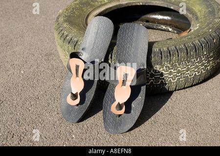 schuhe aus autoreifen auf peruanischen markt s damerika stockfoto bild 33741062 alamy. Black Bedroom Furniture Sets. Home Design Ideas