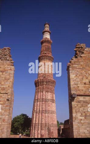 Indien Neu Delhi der Qutub Minar - Stockfoto