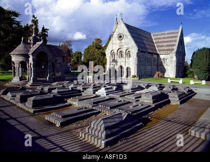 Glasnevin Cemetery Dublin Friedhof Kirche Gräber - Stockfoto