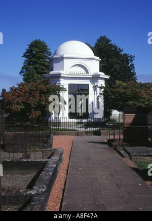 dh St Michaels und Süd DUMFRIES GALLOWAY Robert Burns Dichter neoklassizistischen Mausoleum Friedhof Friedhof