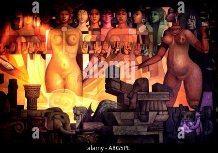 Nationalmuseum für Anthropologie in Mexiko-Stadt - Stockfoto