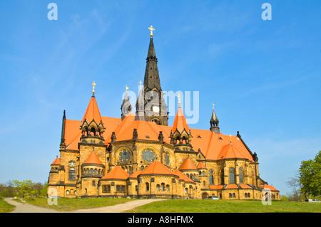 Garnisonskirche Sankt Martin Kirche des Hl. Martin New Garnisonsstadt Dresden Deutschland Europa - Stockfoto