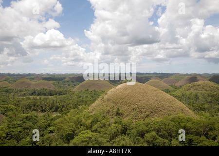 Chocolate Hills, Bohol, Philippinen - Stockfoto